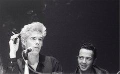 Jim Jarmusch and Joe Strummer, NY Film Festival, 1989