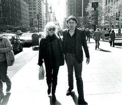 Debbie Harry and Chris Stein, Blondie, Sixth Ave., NYC, 1978