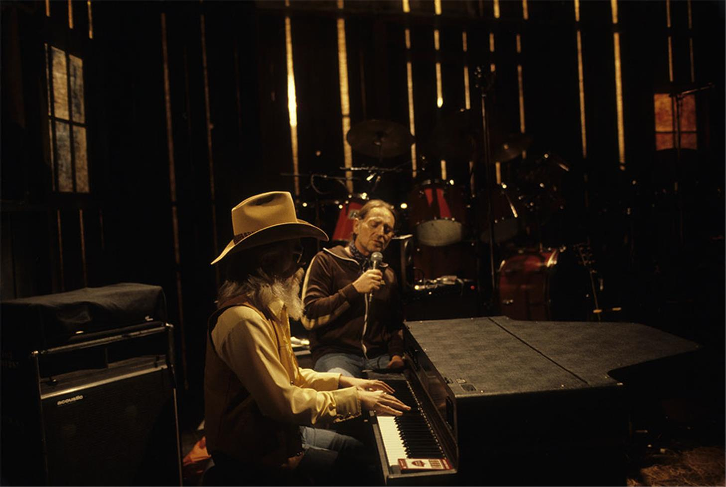 Leon Russell and Willie Nelson, 1979