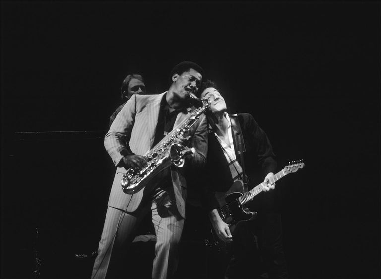 Charlyn Zlotnik Black and White Photograph - Clarence Clemons and Bruce Springsteen, E Street Band