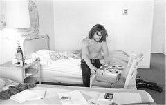 Kris Kristofferson, in hotel with tape recorder, Nashville, 1970