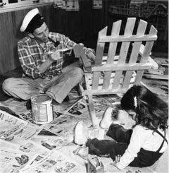 Frank Sinatra at home with Nancy Sinatra #2