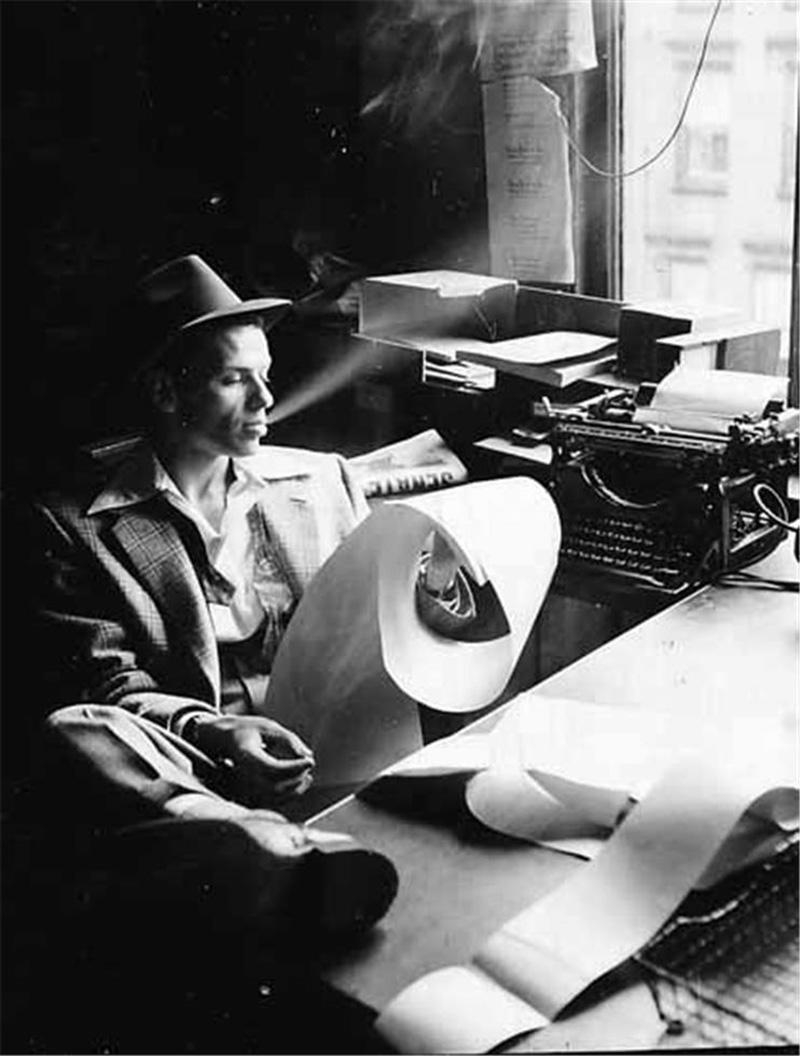 Frank Sinatra at the office