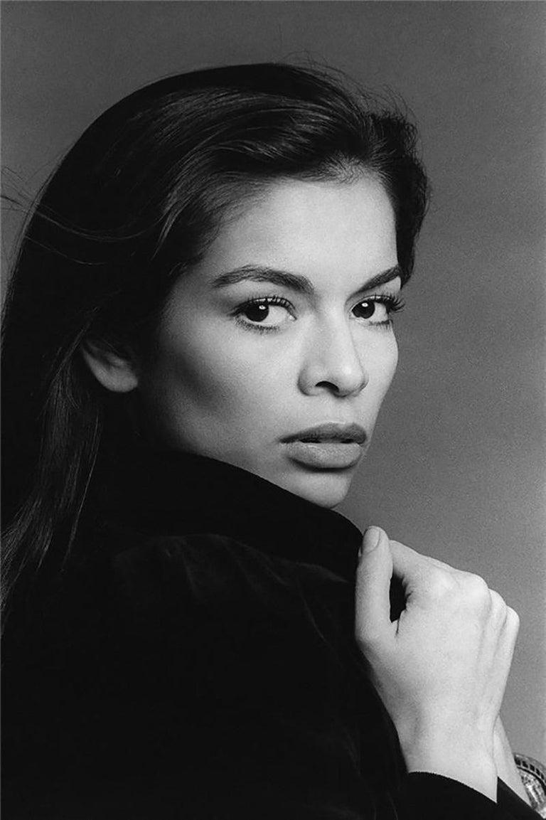 Francesco Scavullo Black and White Photograph - Bianca Jagger, 1976