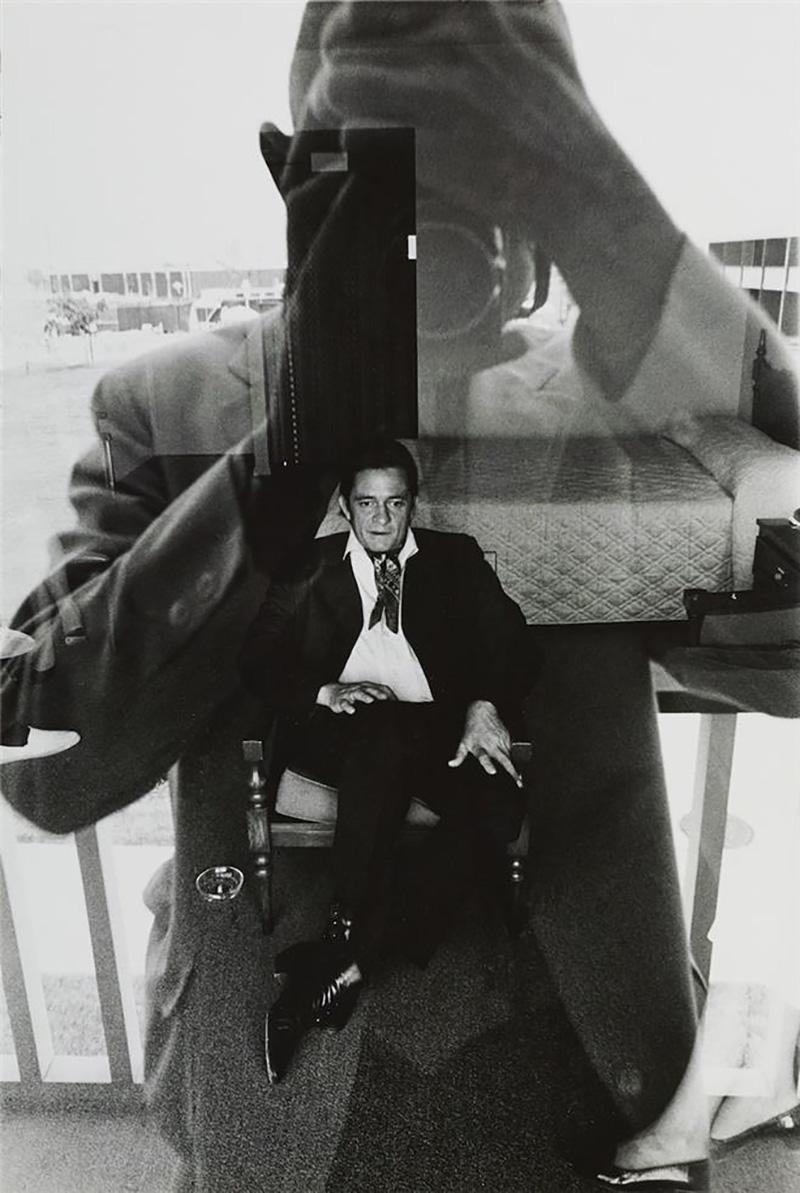 Johnny Cash, motel room, 1969