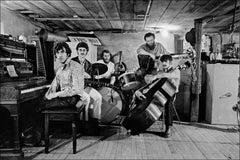 The Band, basement of Rick Danko's Zena Rd. home, Woodstock, 1969