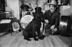 Rick Danko, The Band, with his dog Hamlet, 1969