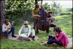 The Band, Richard & Garth's house above the Ashokan resevoir, Woodstock, 1969.