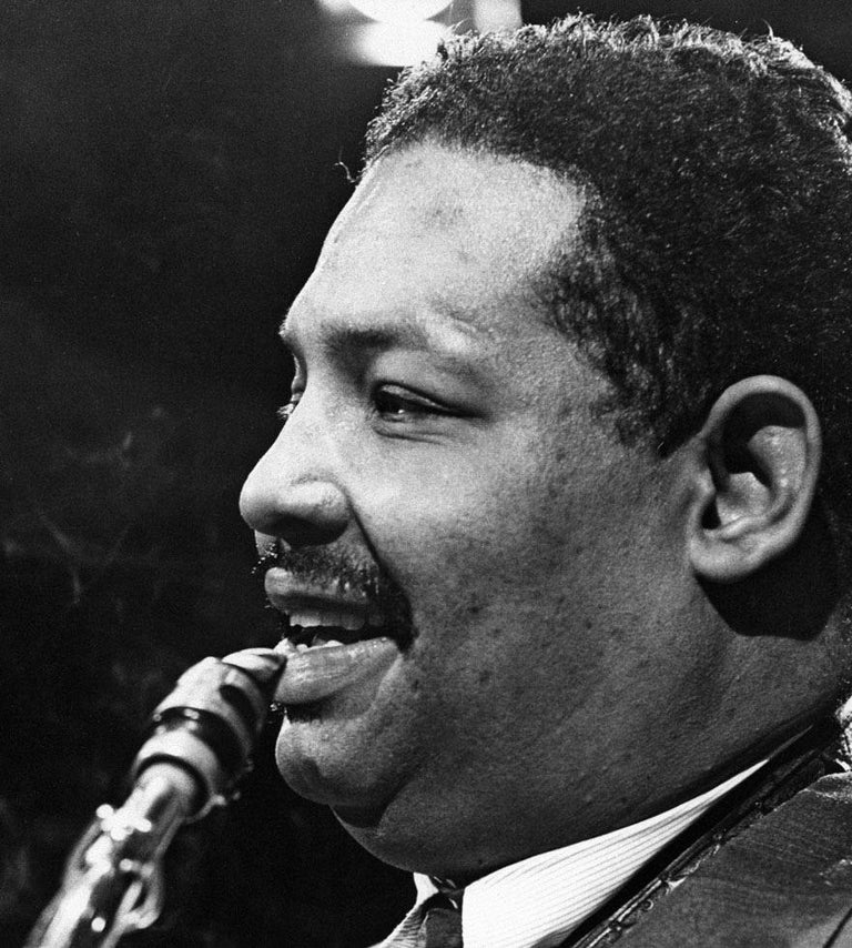 Lee Tanner Black and White Photograph - Cannonball Adderley