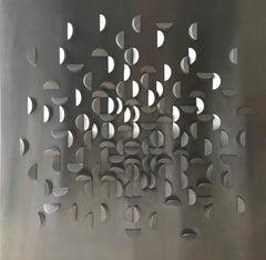"Kinetic Modern Abstract Geometric Sculpture ""Étoile Éclatée"" 1967"