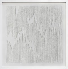 """Minimalist Abstract Contemporary Dry Point On Paper """"Square"""" #3"""