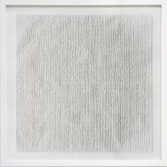"""Minimalist Abstract Contemporary Dry Point On Paper """"Square"""" #4"""