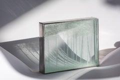 "Minimalist Figurative Contemporary Drawings On Glasses ""Forêt de Bouleaux 2/5"""