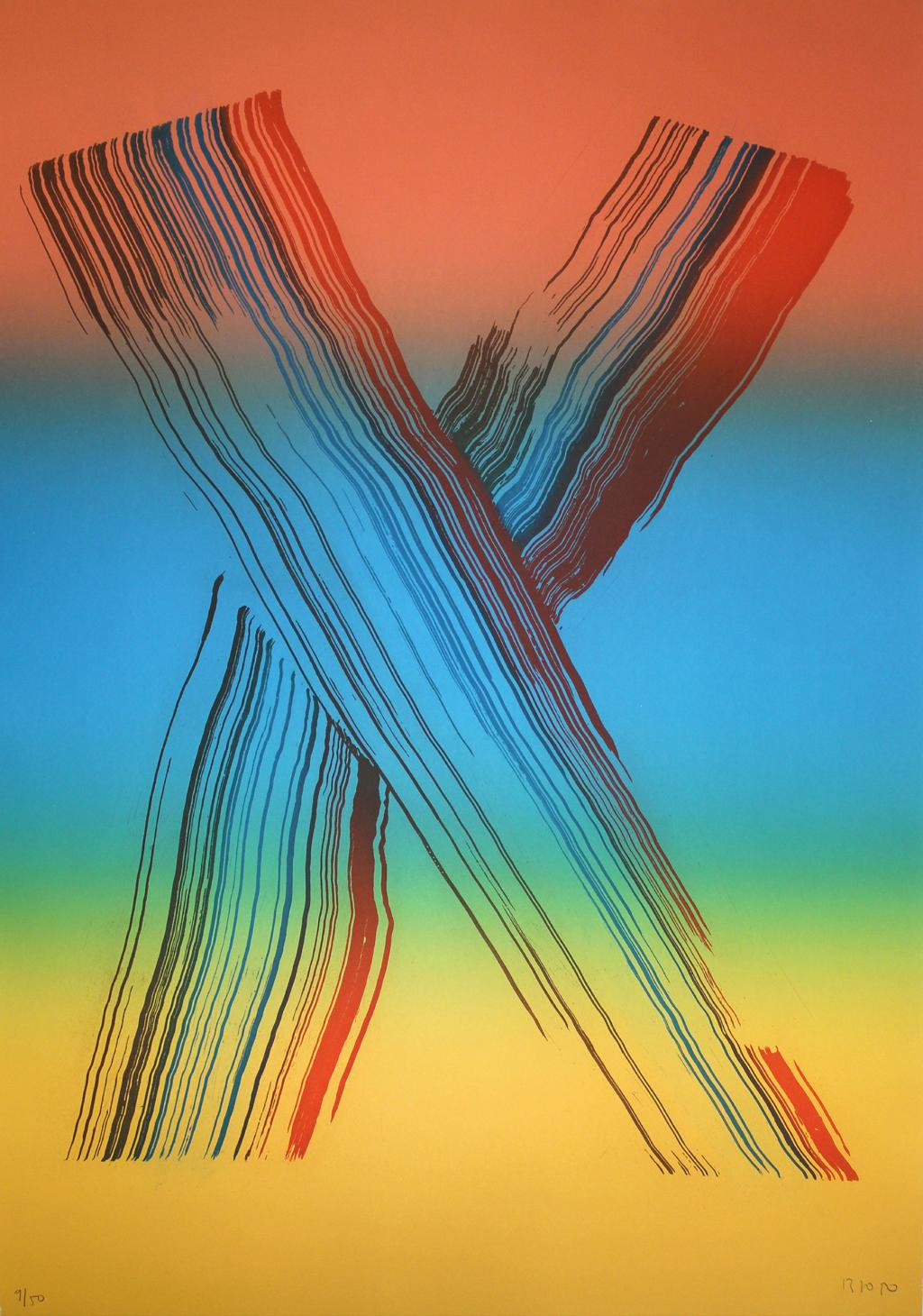 JOSE MANUEL BROTO: Iris 2. Limited edition etching on paper. Lyrical abstraction
