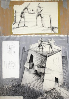 ANDRÉS NAGEL: Untitled 2. Limited edition etching & collage on paper. Conceptual