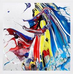 KATRIN FRIDRIKS: Awakening Ride - Archival pigment print, silkscreen. Modern art