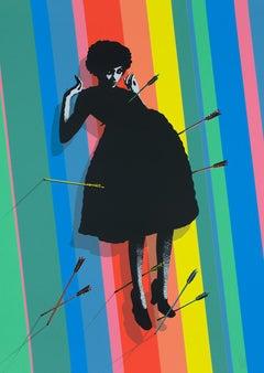 EELUS: Baby shot me down. Limited ed. screen print. Street Art, Pop Art Graffiti