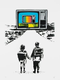 EUROPEAN BOB: Life is better in colour. Screen print. Street Art, Graffiti