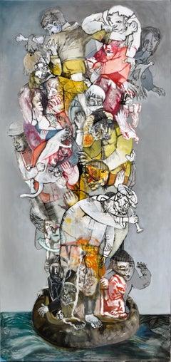 Low tide V - Sergio Moscona, 21st Century, Contemporary Figurative painting