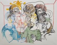 Solar meetings - Sergio Moscona, 21st Century, Contemporary figurative painting