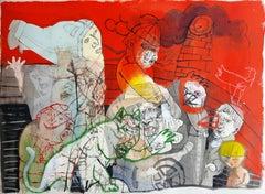 Pidiendo permiso para el rayo - Sergio Moscona, 21st Century, Figurative drawing