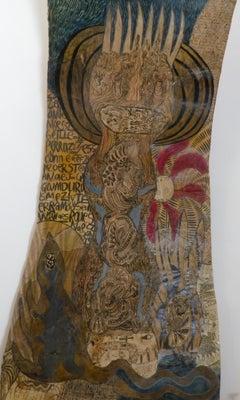 Tattoed character - Geneviève Seillé, 21st Century, Outsider art, Figurative