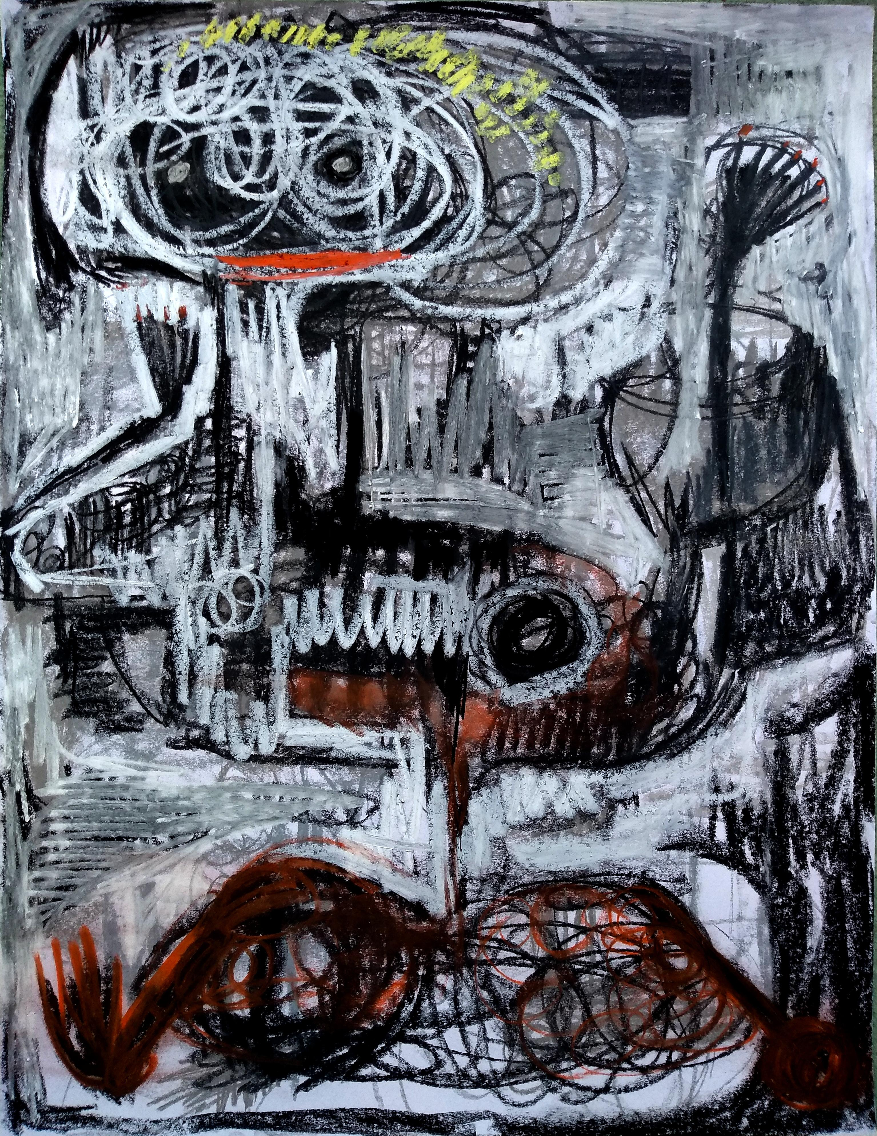 The owner III - Parmis Sayous 21st Century drawing, Iranian contemporary painter