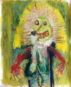 Jeremy on acid - Julien Wolf, 21st Century, Contemporary figurative painting