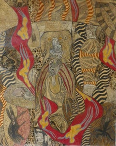 The red river #1252- Geneviève Seillé, 21st Century, Outsider art, Figurative