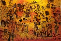 Tarot - Philippe Azéma - 21st Century, Outsider art, Figurative art, Painting