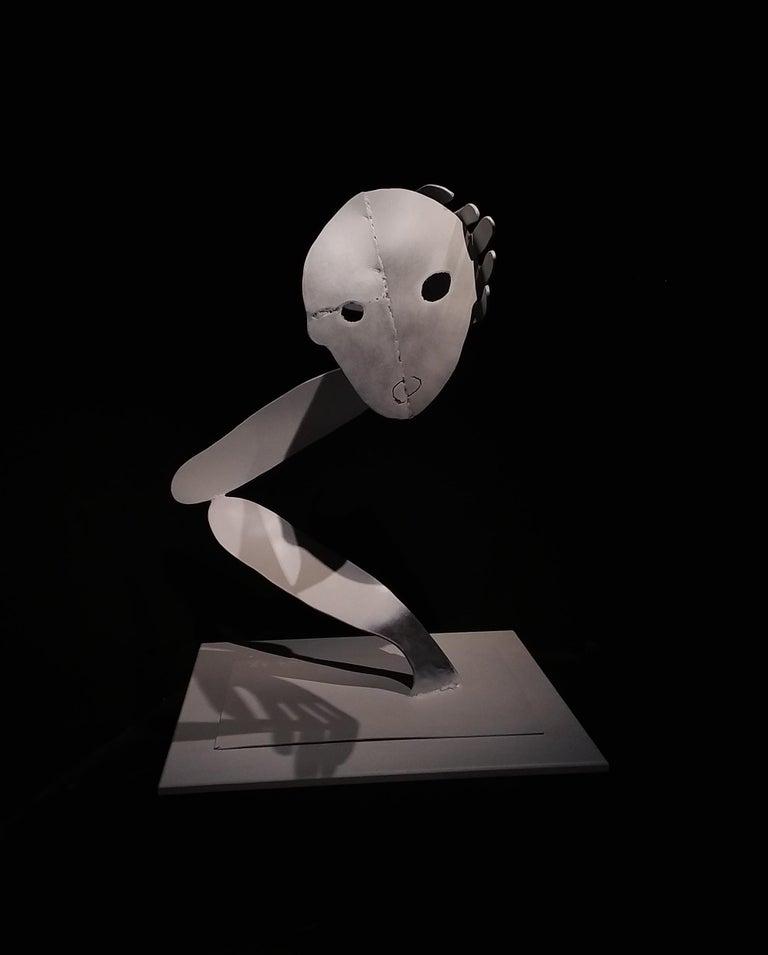 A bird without a song- Haude Bernabé, 21st Century, Contemporary metal sculpture - Sculpture by Haude Bernabé