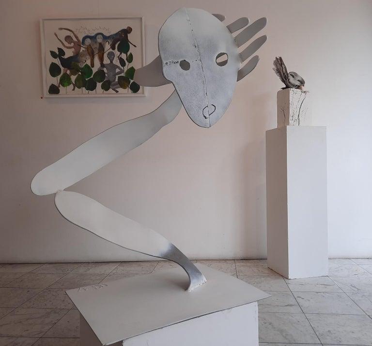 A bird without a song- Haude Bernabé, 21st Century, Contemporary metal sculpture For Sale 2