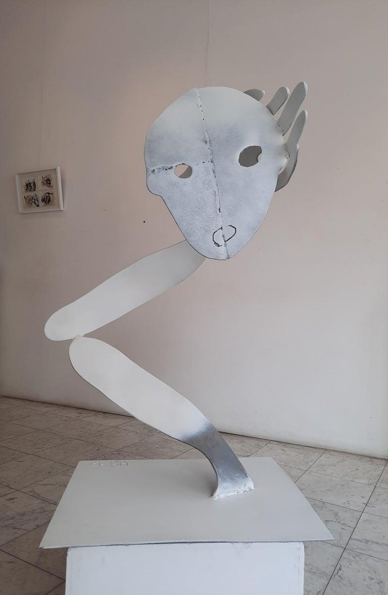 A bird without a song- Haude Bernabé, 21st Century, Contemporary metal sculpture For Sale 4