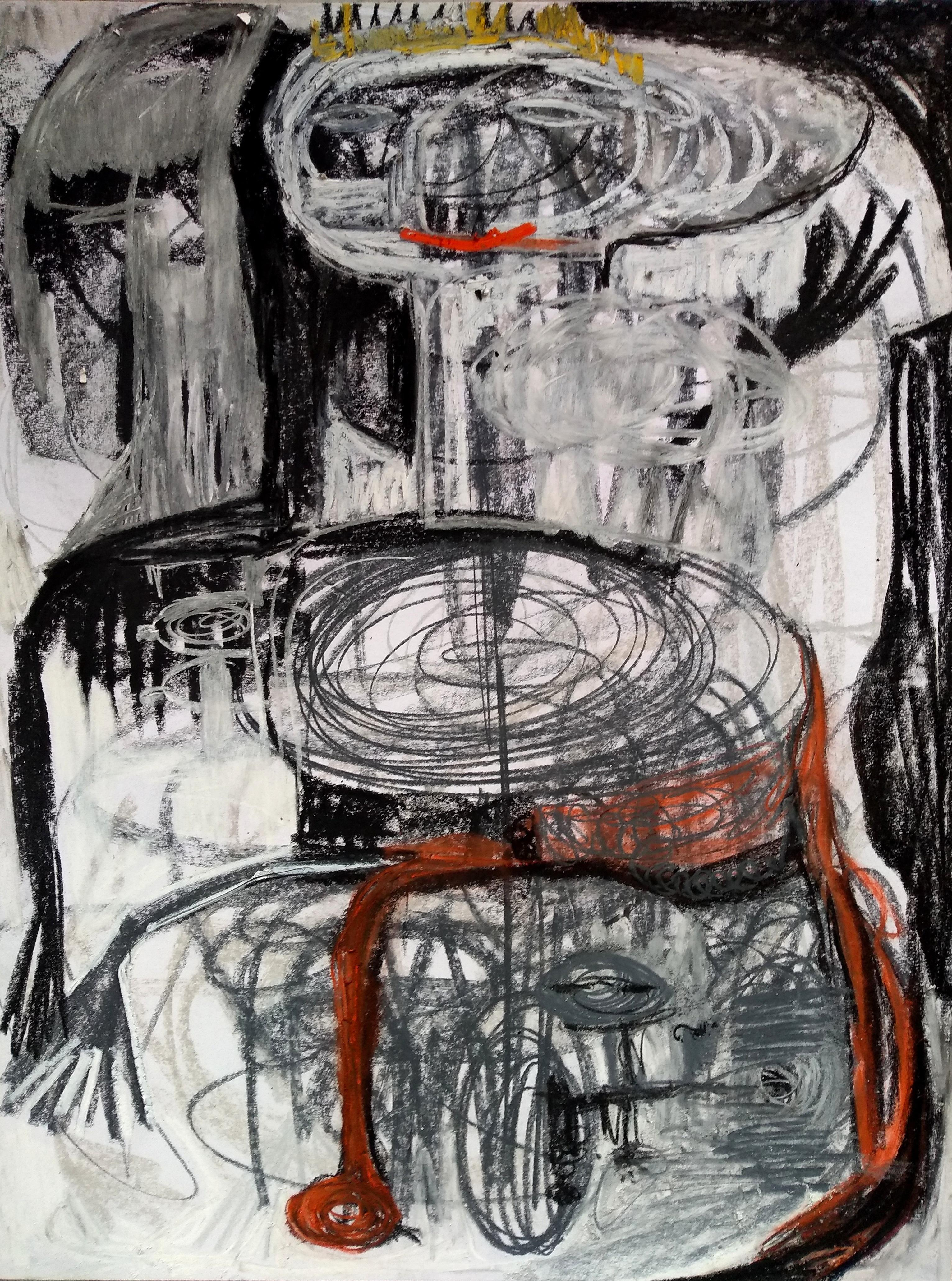 The owner II - Parmis Sayous 21st Century drawing, Iranian contemporary painter