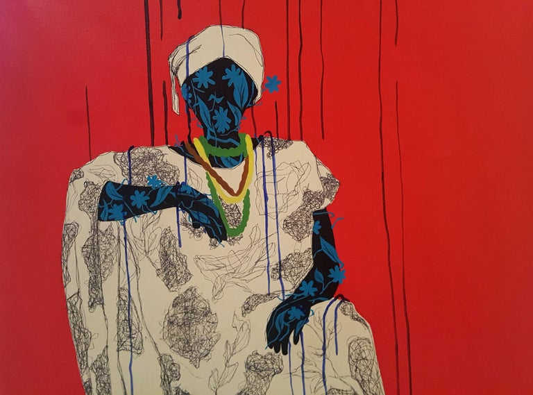 Women around us III - Moustapha Baïdi Oumarou, 21st Century, African painting - Contemporary Painting by Moustapha Baïdi Oumarou