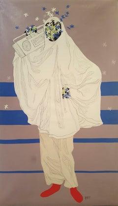 Women around us IV - Moustapha Baïdi Oumarou, 21st Century, African painting