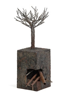 Tree and subsoil, the city - Jean-Paul Réti, Contemporary metal sculpture