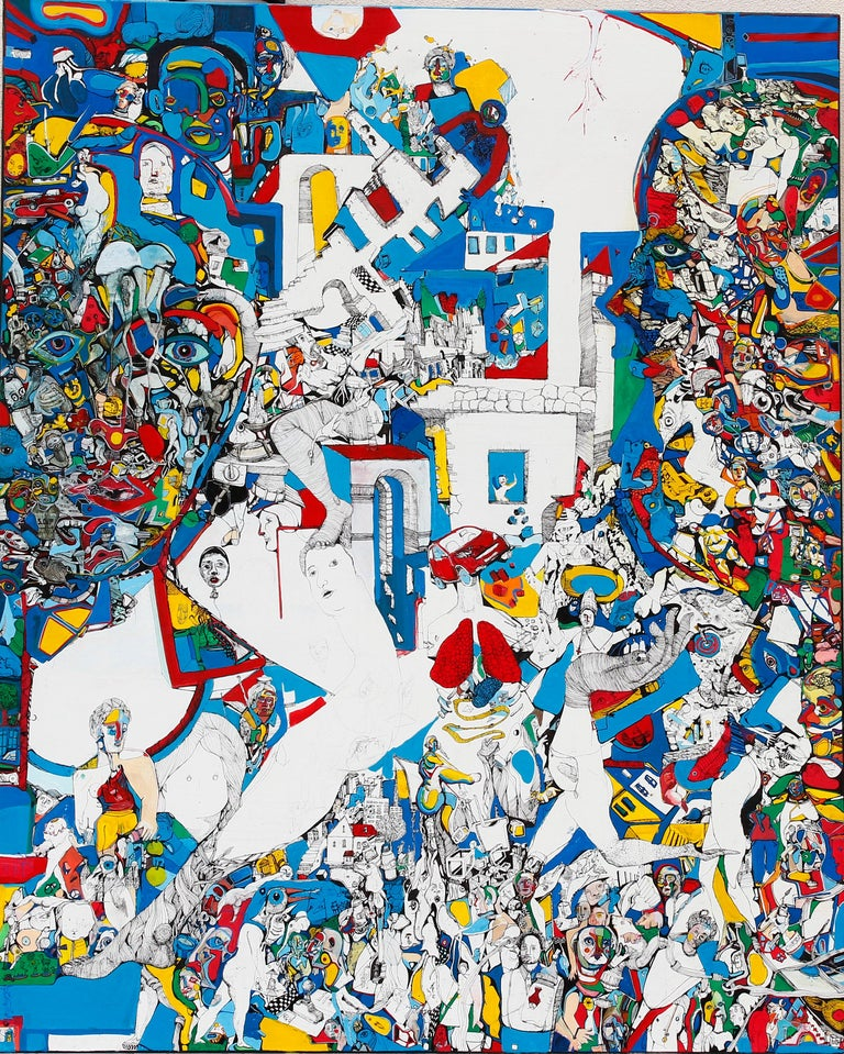Paradigm - Antoine Néron Bancel, 21st Century, Contemporary figurative painting - Painting by Antoine Néron Bancel