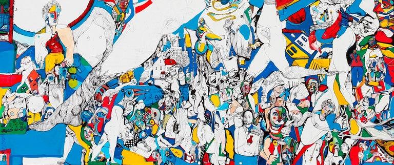 Paradigm - Antoine Néron Bancel, 21st Century, Contemporary figurative painting For Sale 1