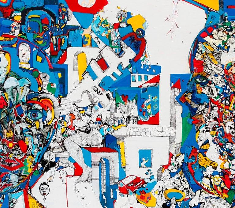 Paradigm - Antoine Néron Bancel, 21st Century, Contemporary figurative painting For Sale 2