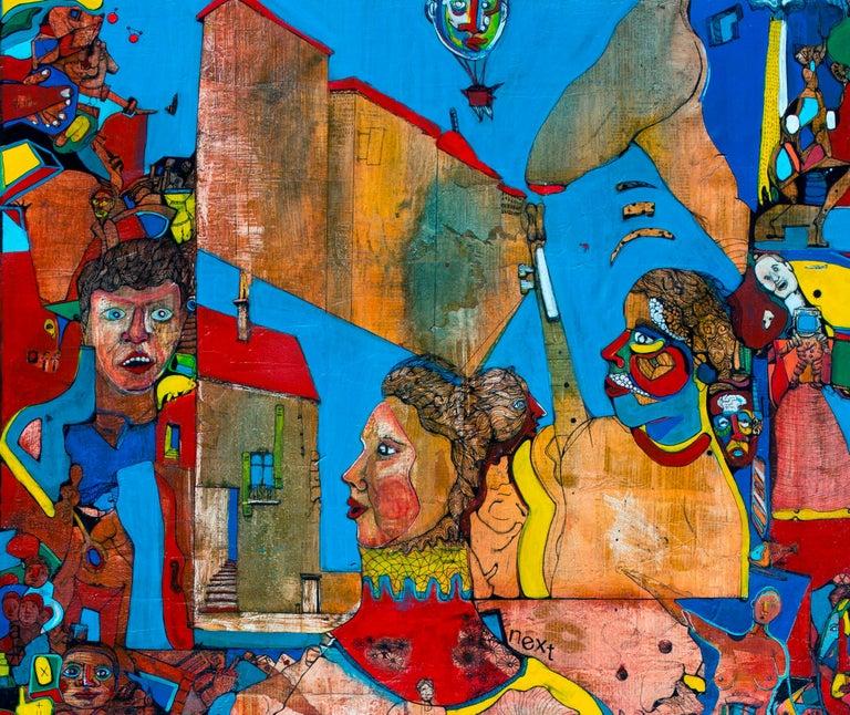 Amazonia - Antoine Néron Bancel, 21st Century, Contemporary figurative painting - Gray Figurative Painting by Antoine Néron Bancel