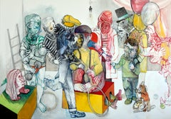 A circus to recombine - Sergio Moscona, 21st Century, Figurative painting
