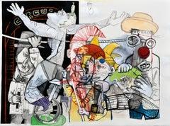 Una familia funcional II - Sergio Moscona, 21st Century, Figurative painting