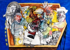 The sardine fishing - Sergio Moscona, 21st Century, Figurative painting
