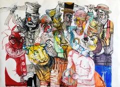 He thinks he can handle the Circus - Sergio Moscona, 21st Century Figurative art