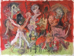 Parnassus madness-Julien Wolf, 21st Century, Contemporary Expressionist Painting