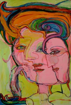 The hair strand-Simone Picciotto, 21st Century, Contemporary figurative painting