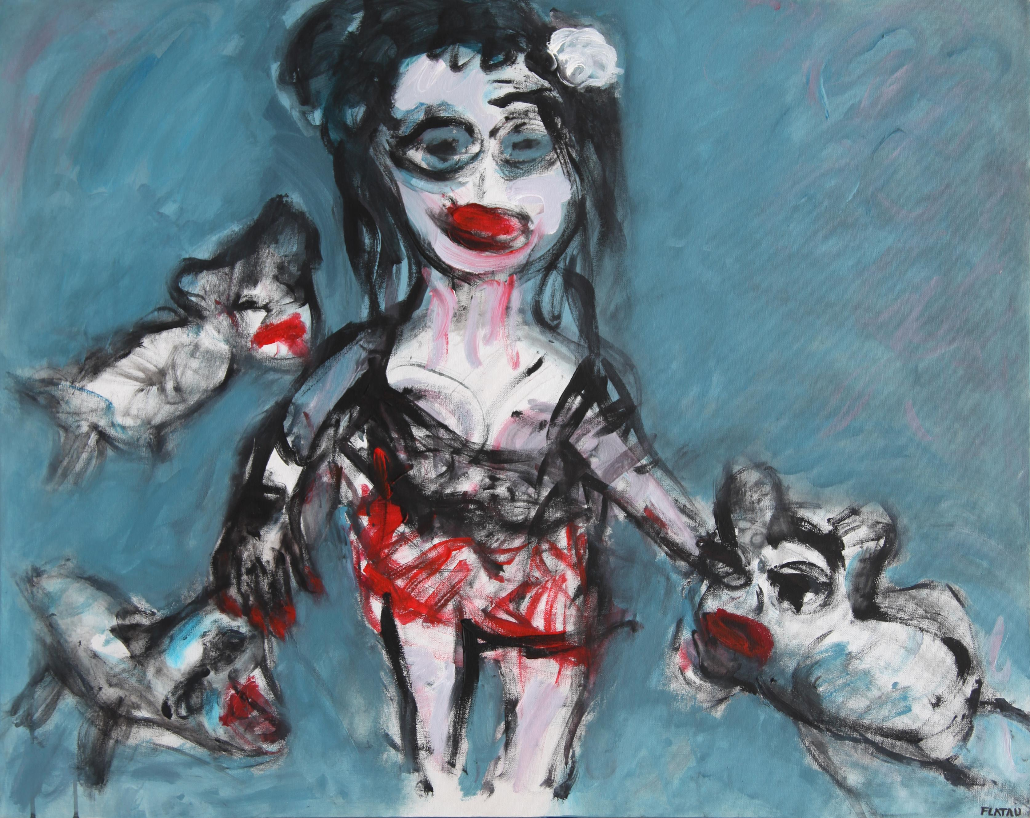 The faithfuls - Joanna Flatau, Contemporary Expressionist painting