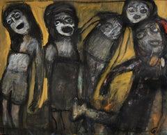 Strike a pose - Joanna Flatau, Contemporary art, Expressionist painting