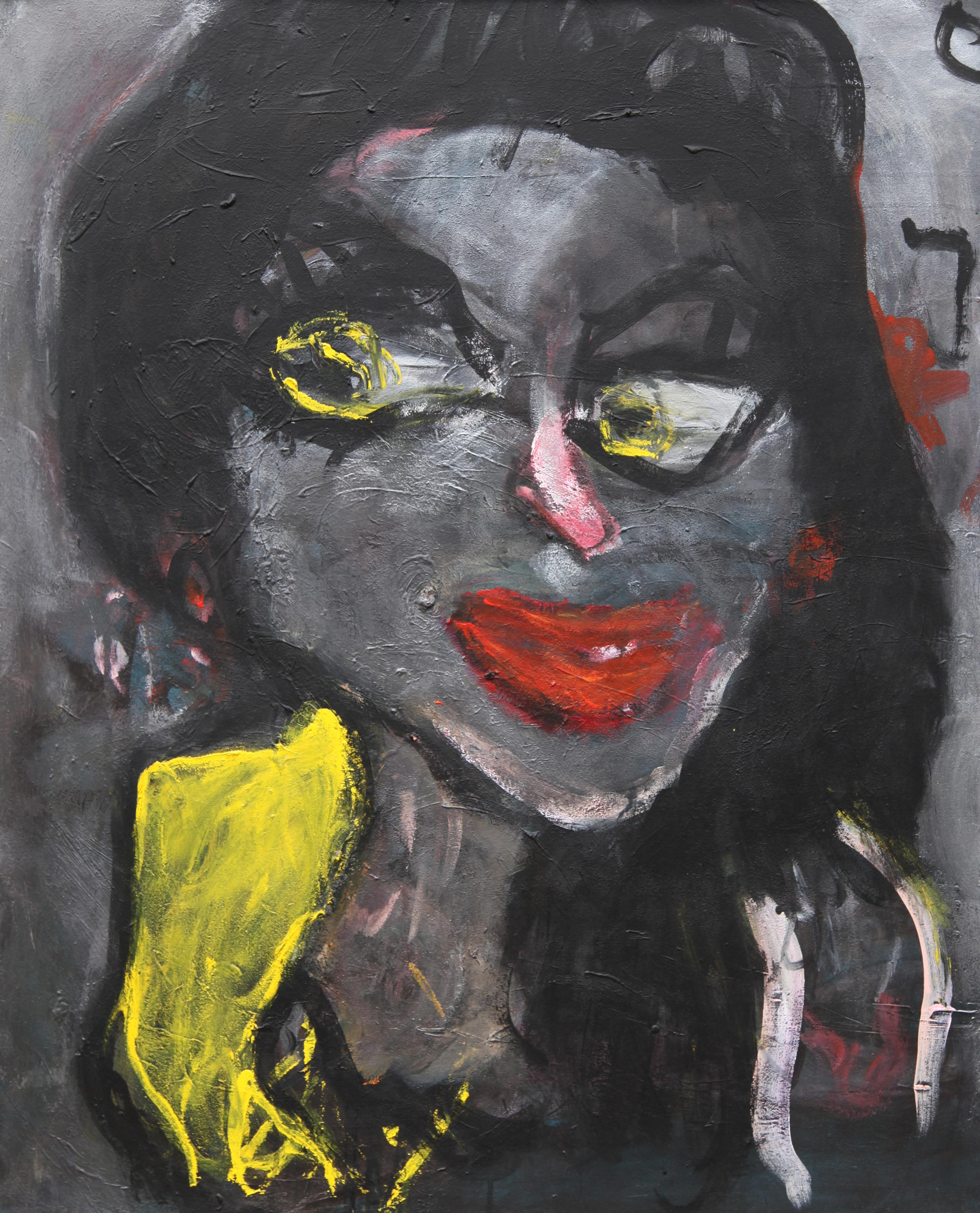 Curious - Joanna Flatau, Contemporary art, Expressionist painting